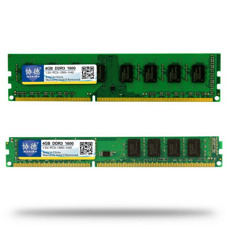 En gros Xiede DDR3 1600/PC3 12800 2 GB 4 GB 8 GB 16 GB ordinateur de bureau RAM mémoire Compatible RAM 1333 MHz/1066 MHz PC3-12800 10600