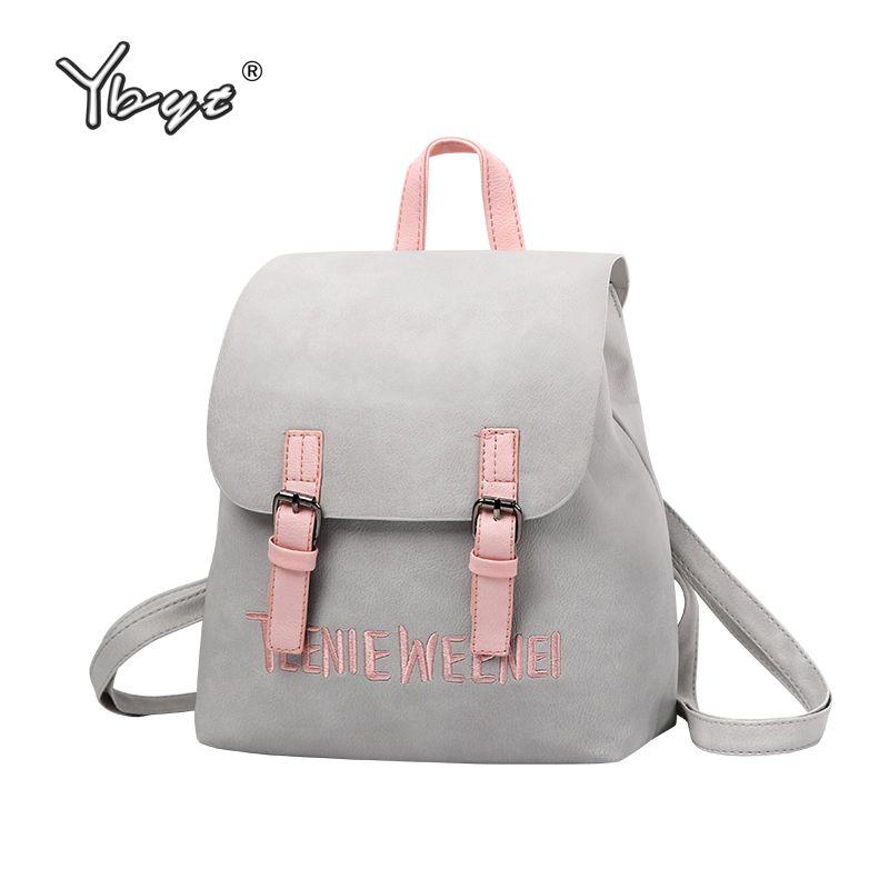 Ybyt бренд 2018 Новый консервативный стиль рюкзак Лидер продаж женские Джокер хозяйственная плечо Леди Bookbag Дорожная сумка школьные рюкзаки