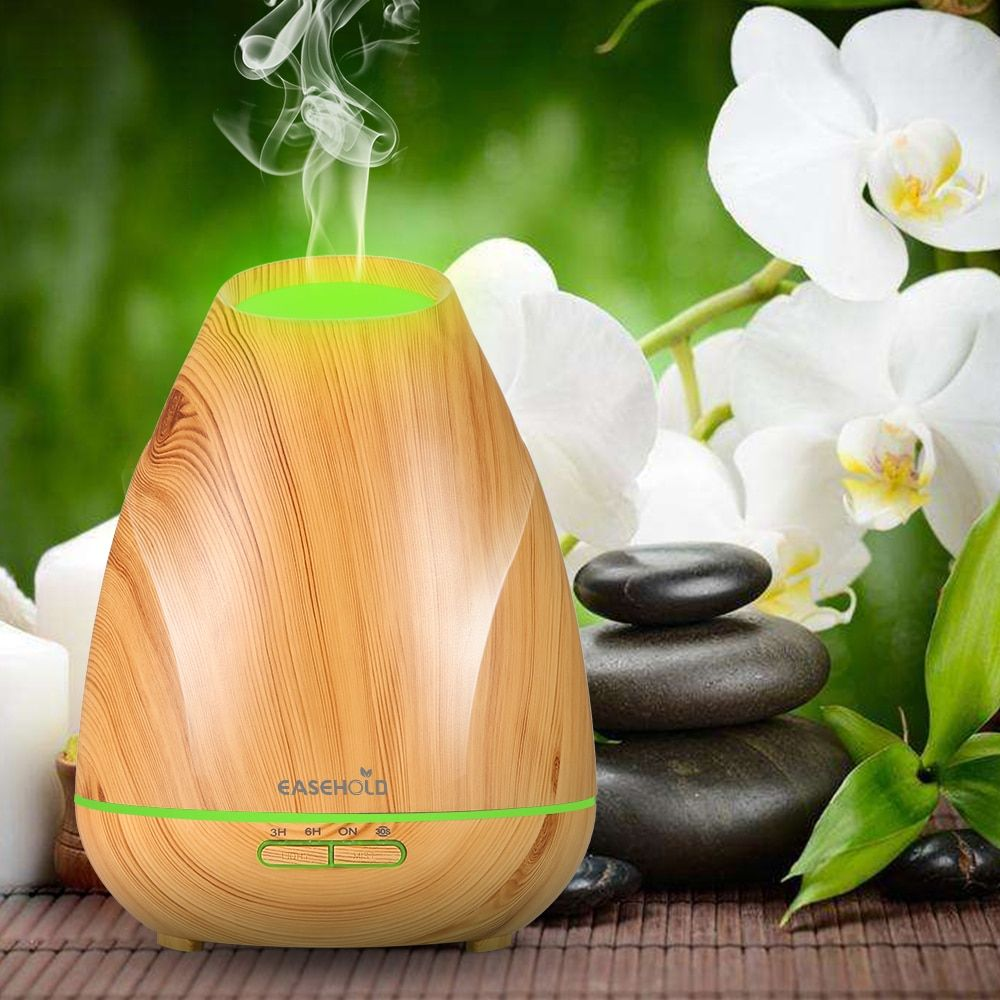 EASEHOLD 400Ml Essential Oil Diffuser Air Humidifier Aroma Lamp Aromatherapy Electric Ultrasonic Aroma Diffuser Mist Maker