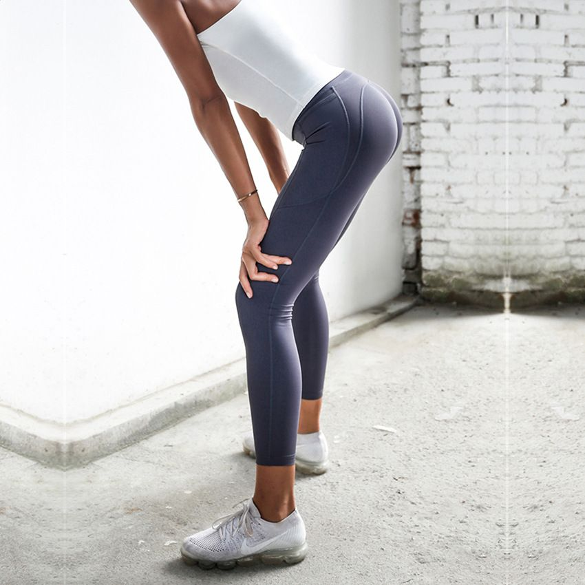 Stretchy Sport Leggings For Women Gym Booty Lift Bodybuilding Fitness Clothing High Waist Tummy Control Yoga Pants With Pockets
