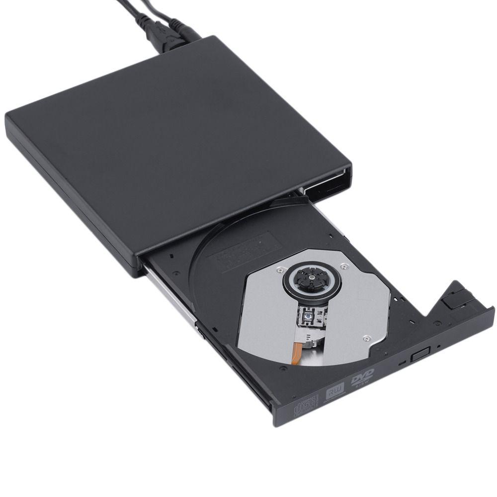New  black USB 2.0 External CD+-RW DVD+-RW DVD-RAM Burner Drive Writer For Laptop PC Wholesale Drop Shipping