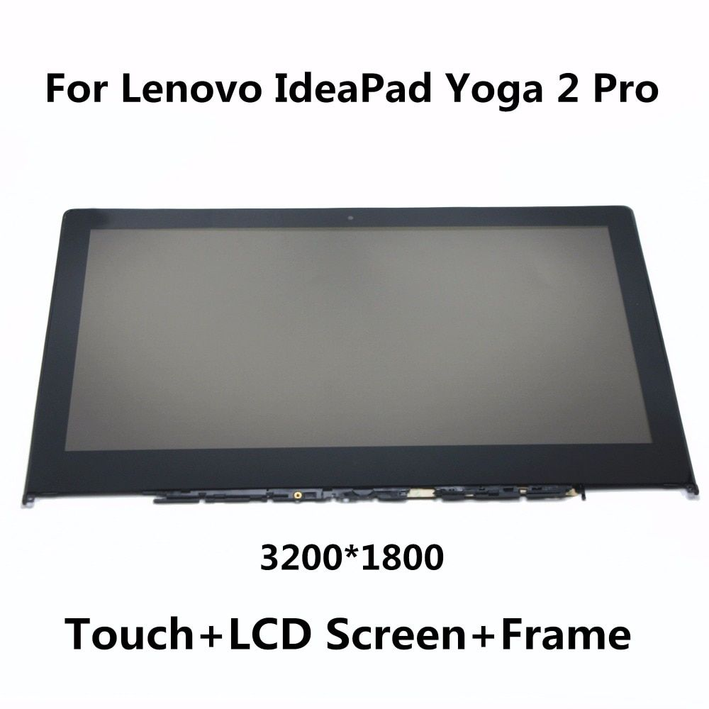 For Lenovo IdeaPad Yoga 2 Pro 20266 LTN133YL01 Full LCD Display Panel Monitor + Digitizer Touch Screen Glass Assembly with Frame