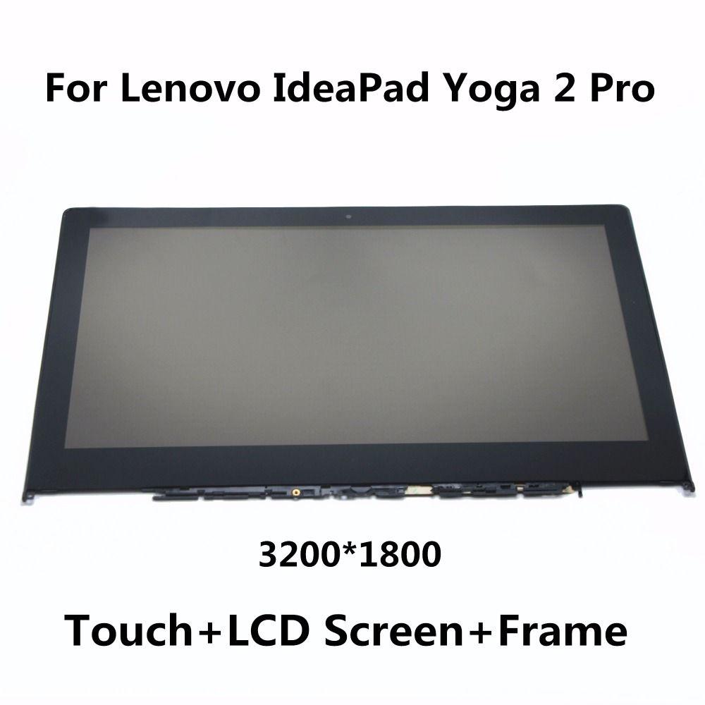 Para Lenovo IdeaPad Yoga 2 Pro 20266 LTN133YL01 Completo LCD Monitor de pantalla + Digitalizador Touch Screen Asamblea de Cristal con marco