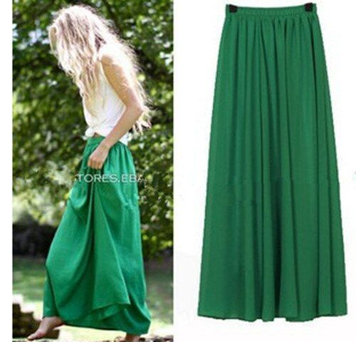 Jupe longue grande taille Style élégant femmes plissées Maxi jupes en mousseline de soie 2019 plage bohème jupes d'été Faldas Saia Jupe Femme
