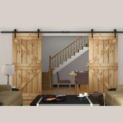 150 cm/183 cm/200 cm/244 cm/300 cm/366 cm/400 cm DIY Heavy duty Double Coulissante Grange Porte moderne en bois coulissante grange quincaillerie de porte