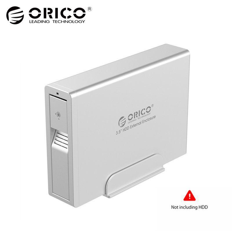 ORICO Aluminium USB 3.0 zu SATA 3,0 3,5 zoll HDD Externe gehäuse Super Speed Sata HDD Docking Station für Laptop PC-Silber