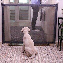 Gate Portable Folding Safe Guard Protection Safety Products Pet Gate For Dogs Baby Safe Guard Children Family  Baby Fence