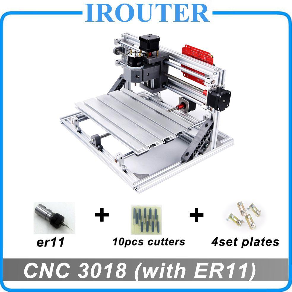 CNC 3018 withER11, bricolage mini CNC machine de gravure, gravure laser, Pcb PVC fraiseuse, routeur en bois, CNC 3018, meilleurs jouets avancés