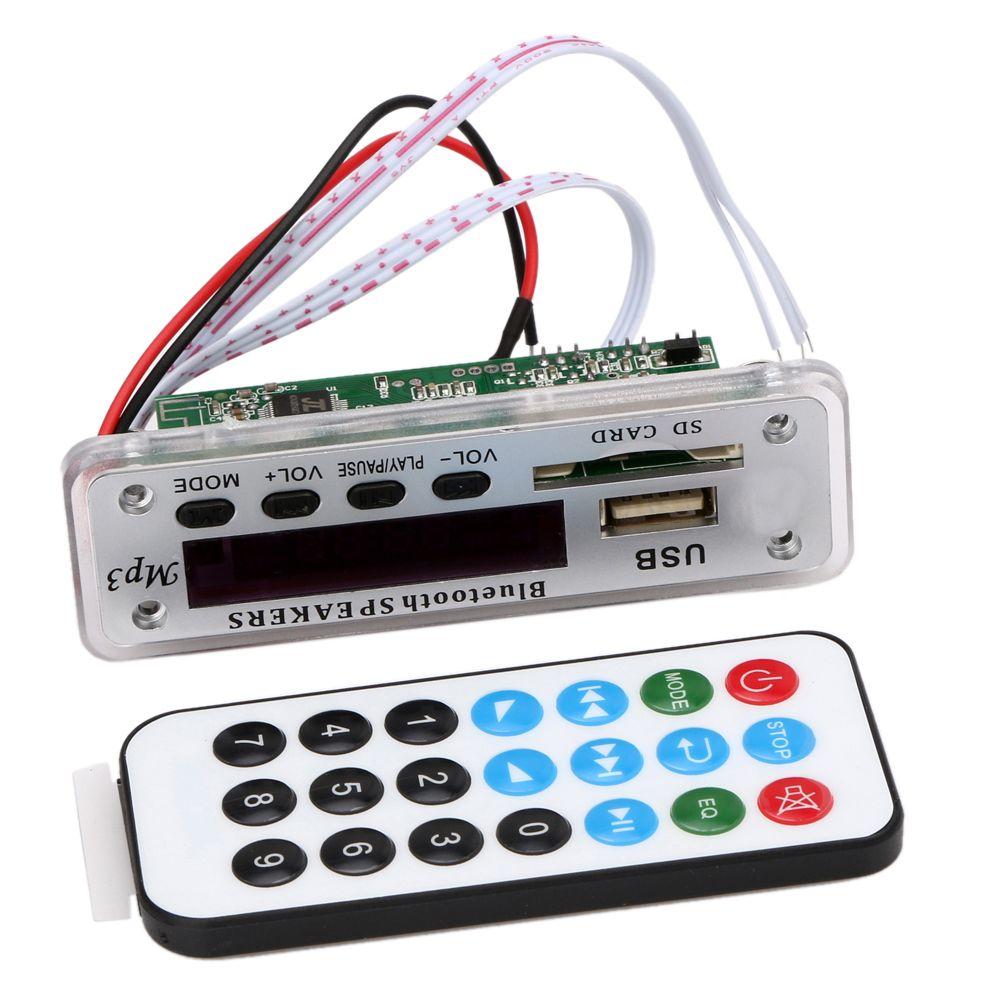 ZTV-M01BT 12V MP3 WMA Decoder Board Audio Module Wireless Bluetooth USB SD FM TF AUX Radio  + Remote Control For Car