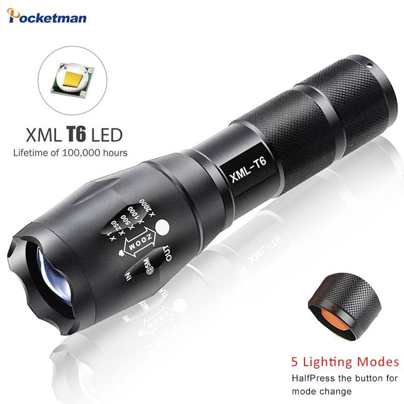 Светодиодный фонарик 4200 Lumnes CREE xm-l T6 светодиодный тактический фонарик Масштабируемые фонарик факел lanternas Гладиатор фонарик