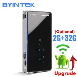 BYINTEK UFO P8I Android 7.1 OS Pico Pocket HD Portable Micro lAsEr WIFI Bluetooth Mini LED DLP Projector with Battery