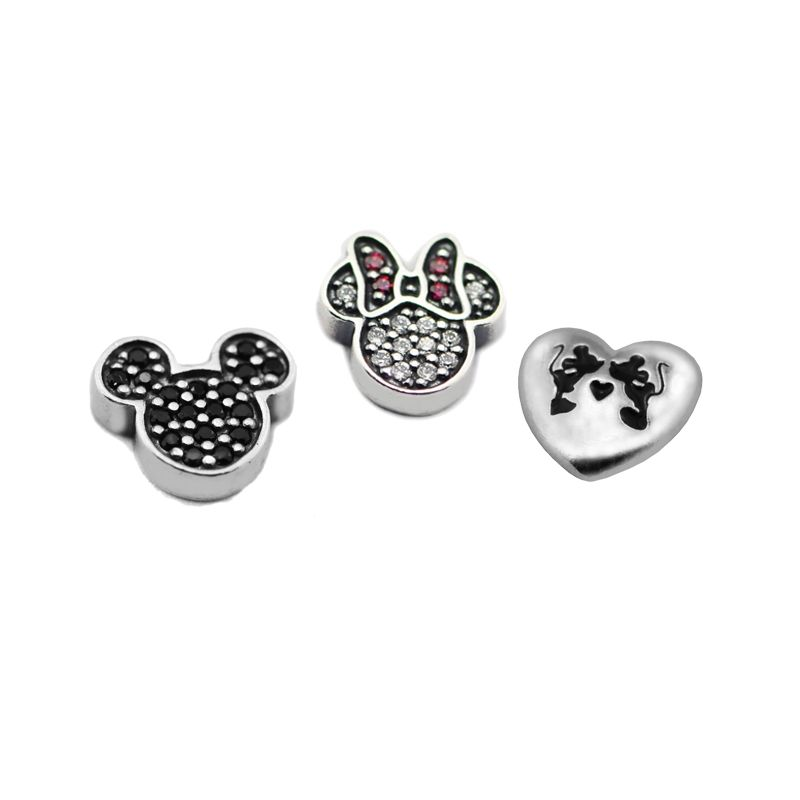 2017 Winter Mouse Icon Petite Set Charms Sterling Silver Diy Beads for Jewelry Making Fits Floating Lockets 925 Silver Jewelry