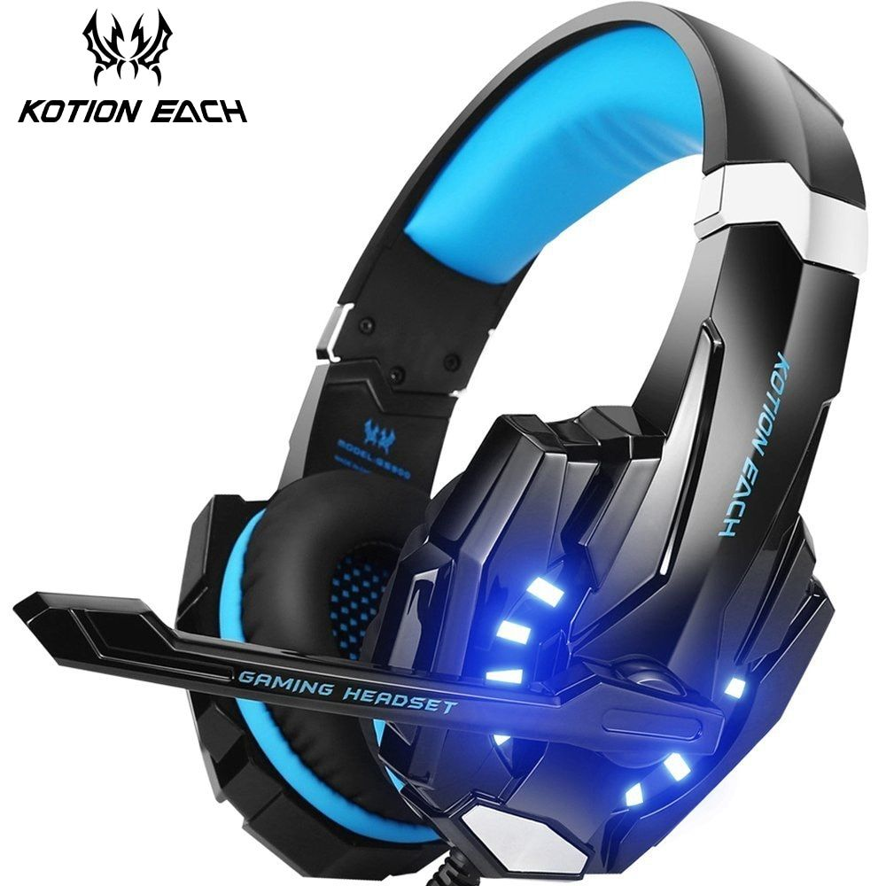 KOTION EACH G9000 Gaming Headphones Noise Cancelling Headsets With Microphone LED Light Mic Headphone For Laptop PC Computer PS4
