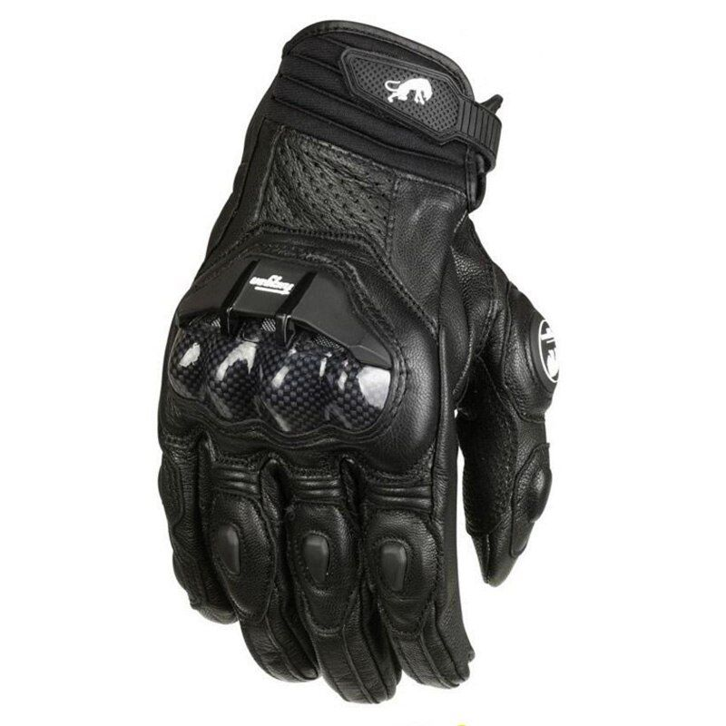 Free shipping France's top WLT AFS 6 motorcycle gloves leather gloves with carbon fiber black white