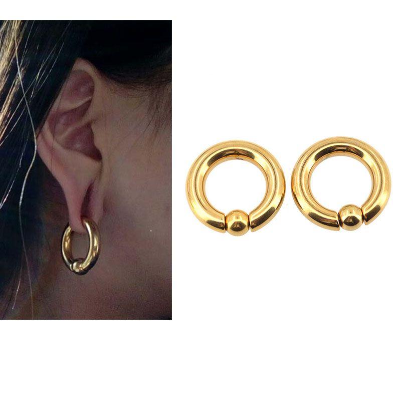 KÖRPER PUNK Piercing Ohrring Ring Ohr Bahre Expander Gewichte BCR Gold Captive Ball Closure Nase Septum Ring 2,5mm 4mm 5mm