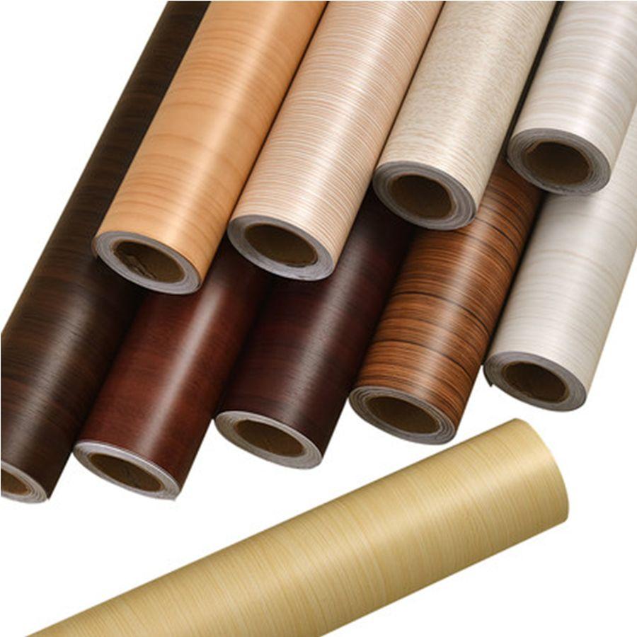 PVC Vinyl Wood Grain Contact Paper for Kitchen <font><b>Cabinets</b></font> Shelf Liner Wardrobe Door Stickers Waterproof Self adhesive Wallpaper