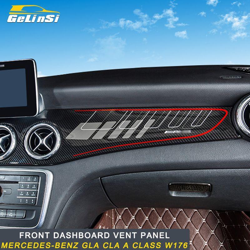 Gelinsi für Mercedes benz EINE klasse GLA CLA w176 auto carbon dashboard panel rahmen trim abdeckung aufkleber zubehör