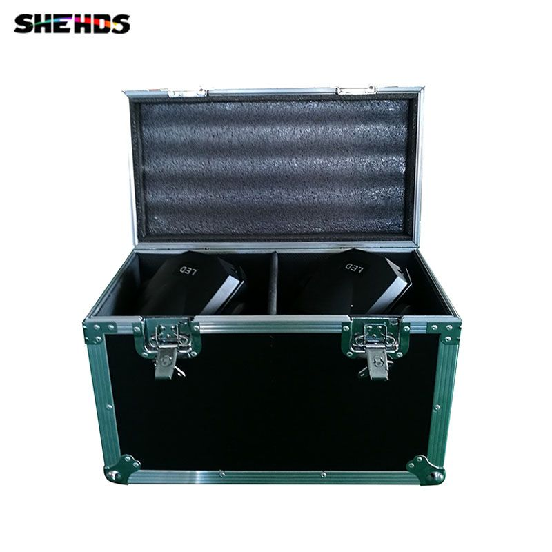 Flight Case with 2 pieces HOT 90W LED Spot Moving Head Light/USA Luminums 90W LED DJ Spot Light