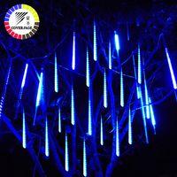 Coversage 50 cm lluvia de meteoritos tubos árbol de Navidad las Luces al aire libre de las Luces Led de cadena guirnalda jardín Guirlande Lumineuse Luces de Navidad