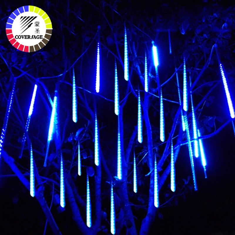 Coversage 50cm Meteor <font><b>Shower</b></font> Tubes Christmas Tree Lights Outdoor Led String Garland Garden Guirlande Lumineuse Luces Navidad