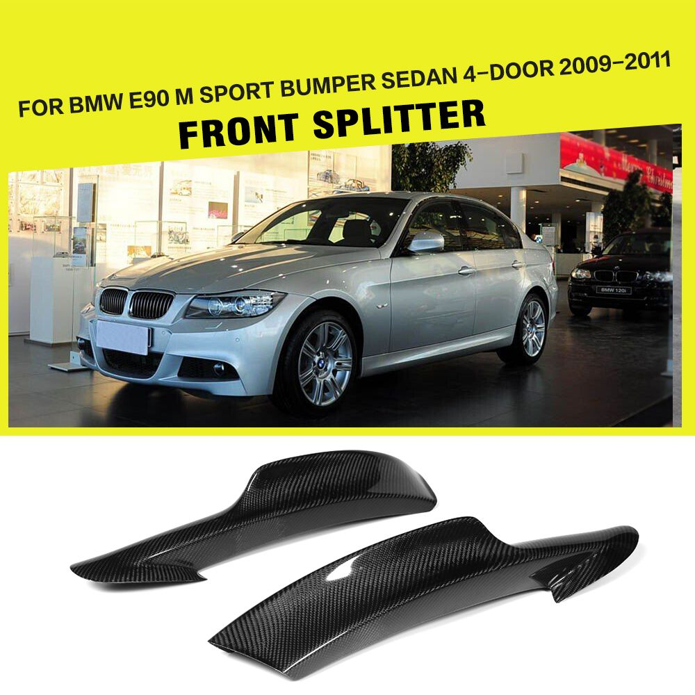 Car-Styling Carbon Fiber Auto Front Lip Splitters Flaps Aprons for BMW 3 Series E90 M tech M sport Bumper 2006-2008 2009-2011