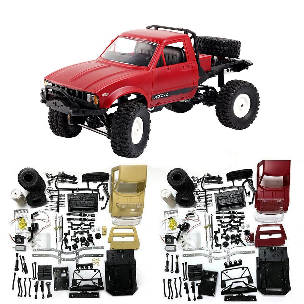 Mini Off-Road RC Truck WPL C14 1:16 Hynix 2.4G Remote Control Car 15km/H Top Speed Mini RC Monster Truck 4WD RTR/KIT