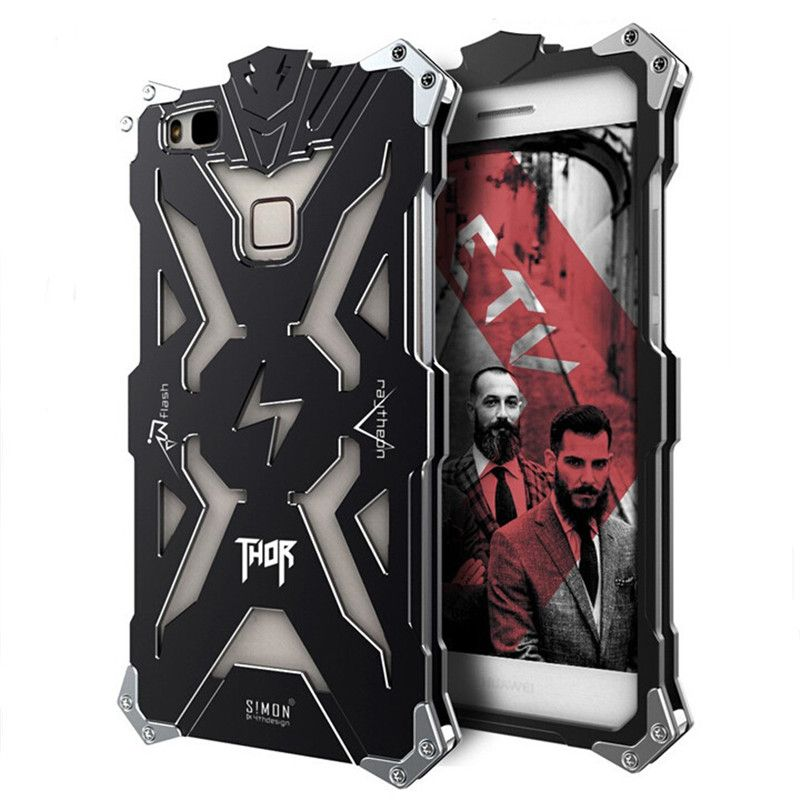 For Huawei P9 lite case Original Design Armor Metal Aluminum THOR IRONMAN P9 Lite protect phone case cover for huawei P9 Plus