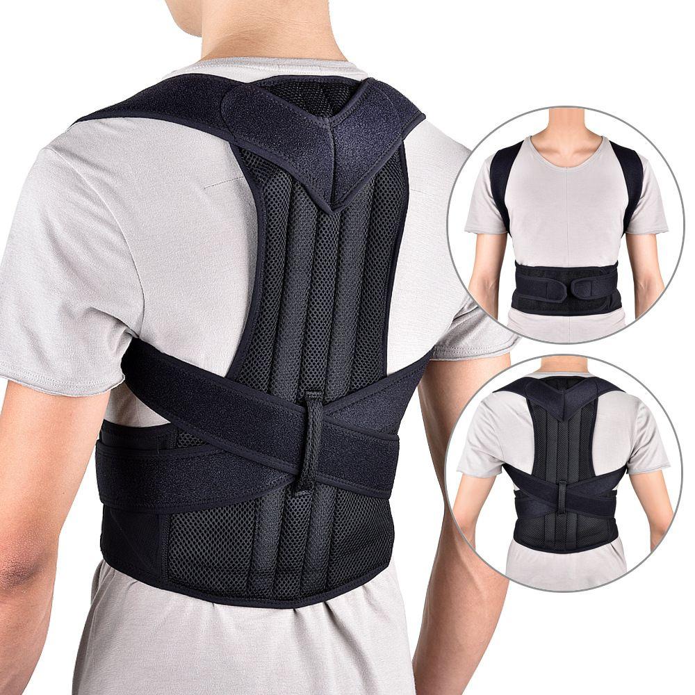 VIPLinkDropshipping Unisex Adjustable posture Corrector Shoulder Back Brace Support Lumbar Spine Support Belt Posture Correction