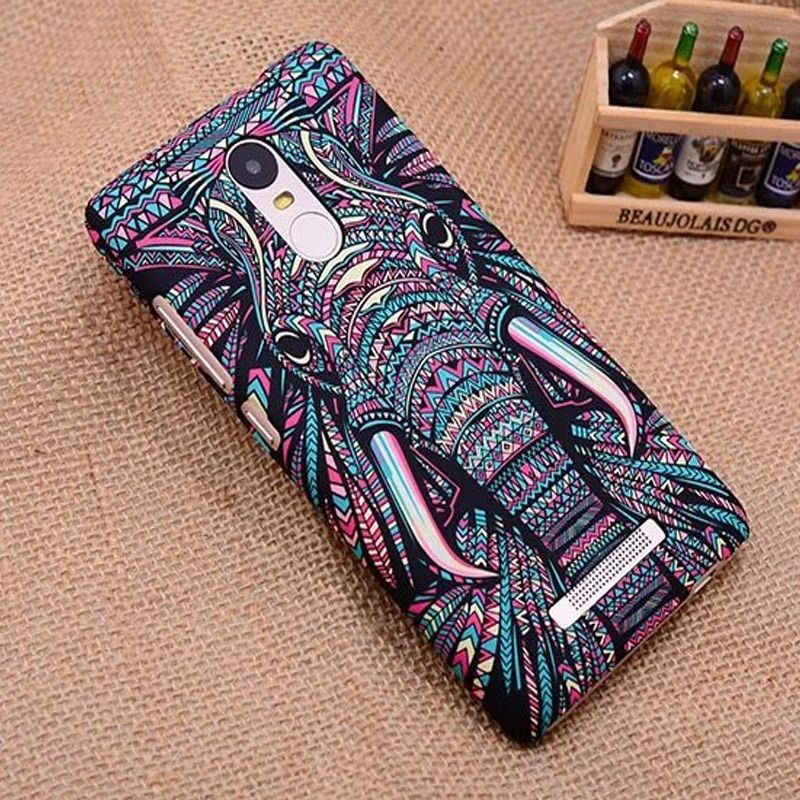 Case For Xiaomi Redmi Note 3 Cover Plastic Animal frosted relief For Redmi Note 3 Pro night glow Cellphone Hard Casing funda