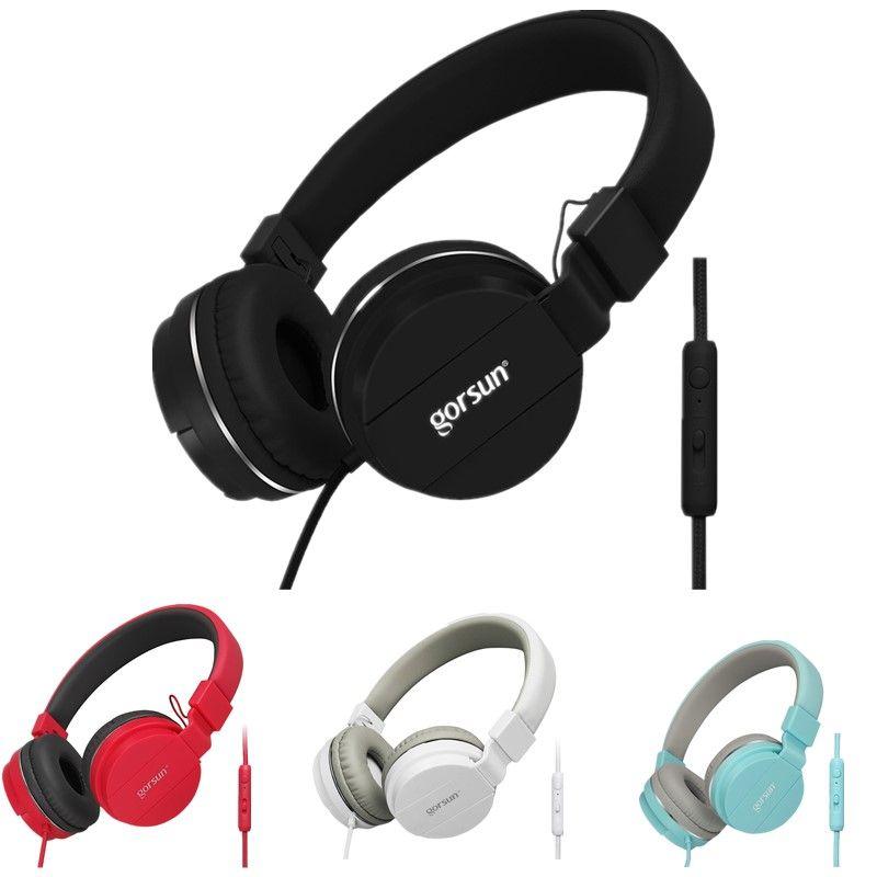 Nouveau Filaire casque avec microphone Sur L'oreille Casques Basse HiFi Son écouteur stéréo musique Pour iPhone Xiaomi Sony Huawei PC