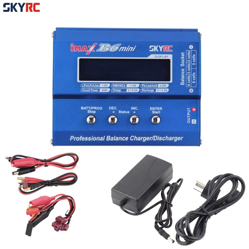 1pcs SKYRC Original Imax B6 Mini Professional Battery Balance Charger +15V 6A Adapter For RC Helicopter Drone Charging