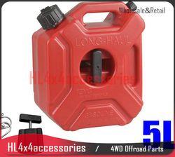 5L Réservoir De Carburant Essence Peut Jerry Peut AVEC Support pince De Rechange support pour Moto ATV Réservoirs D'huile en plastique réservoir de gaz 4WD offroad