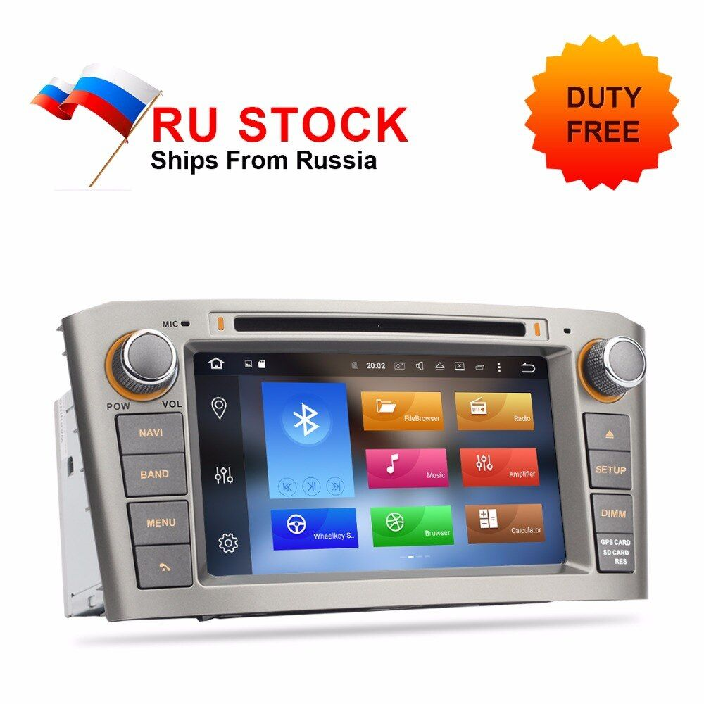 Android 8.0 7.1 Car DVD For Toyota Avensis T25 2003 2004 2005 2006 2007 2008 Auto GPS Radio FM PC Audio Video Multimedia System