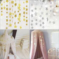 Étoiles Suspendus Décoration Guirlande Mousseux Étoile Garland Bunting pour Mariages ou Parties Enfants Chambres de Moustiquaires Chambre Mur