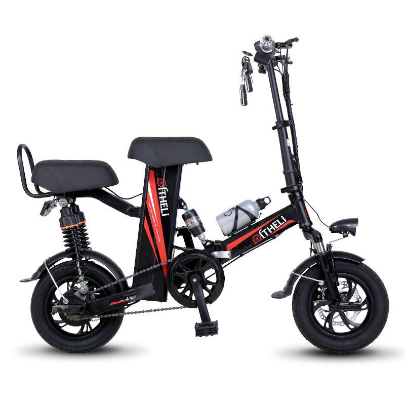 mini electric bike 12-inch power folding scooter adult small generation drive electric bicycle lithium battery electric bike