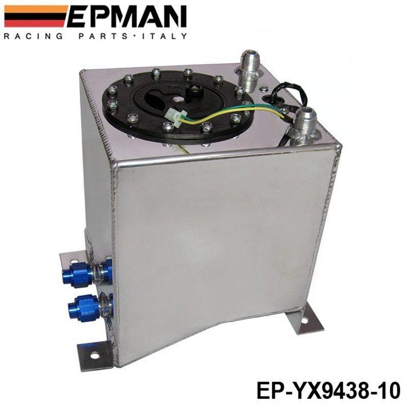 10L Aluminium Surge tank mirror polish Fuel cell foam inside, with sensor EP-YX9438-10