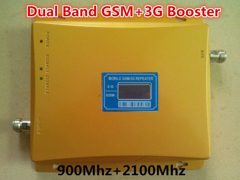 High gain Dual band GSM 2G, 3G signal booster GSM 900 GSM 2100 Signal repeater verstärker signal booster Verstärker 3G GSM Repeater