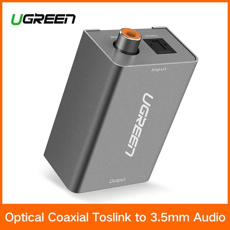 Ugreen Digital zu Analog Audio Adapter Optical Koaxial Toslink auf 3,5mm Audio mit DC 5 v/2A EU stecker Konverter Adapter für TV