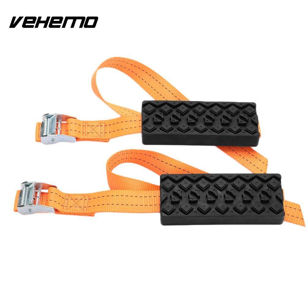 Vehemo Rubber Nylon Strap Tire Tire Chain Outdoor Saloon Car Snow Chain Wheel Belt Anti-Skid Winter