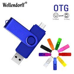Mejor 2in 1 OTG pen drive! OTG 8 GB 16 GB 32 GB 64 GB memoria USB Flash pen drive OTG pendrive stick USB 2.0 OTG USB flash drive