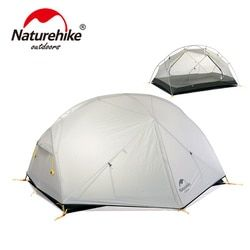 NatureHike 3 Musim Mongar Camping Tenda 20D Nilon Fabic Double Layer Tahan Air Tenda untuk 2 Orang NH17T007-M