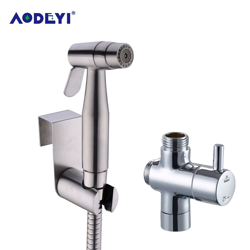 AODEYI Bidet deux fonction toilette à main pulvérisateur à couches Douche Shattaf Bidet Douche Kit Jet 304 Douche en acier inoxydable
