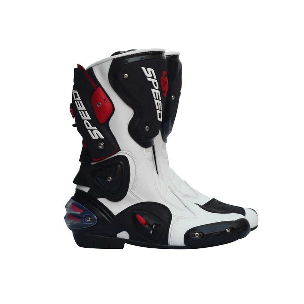 Pro Biker Leather Motorcycle Boots Pro Biker SPEED Racing Boots Motocross Boots Drop Resistance Waterproof Riding Racing Boots