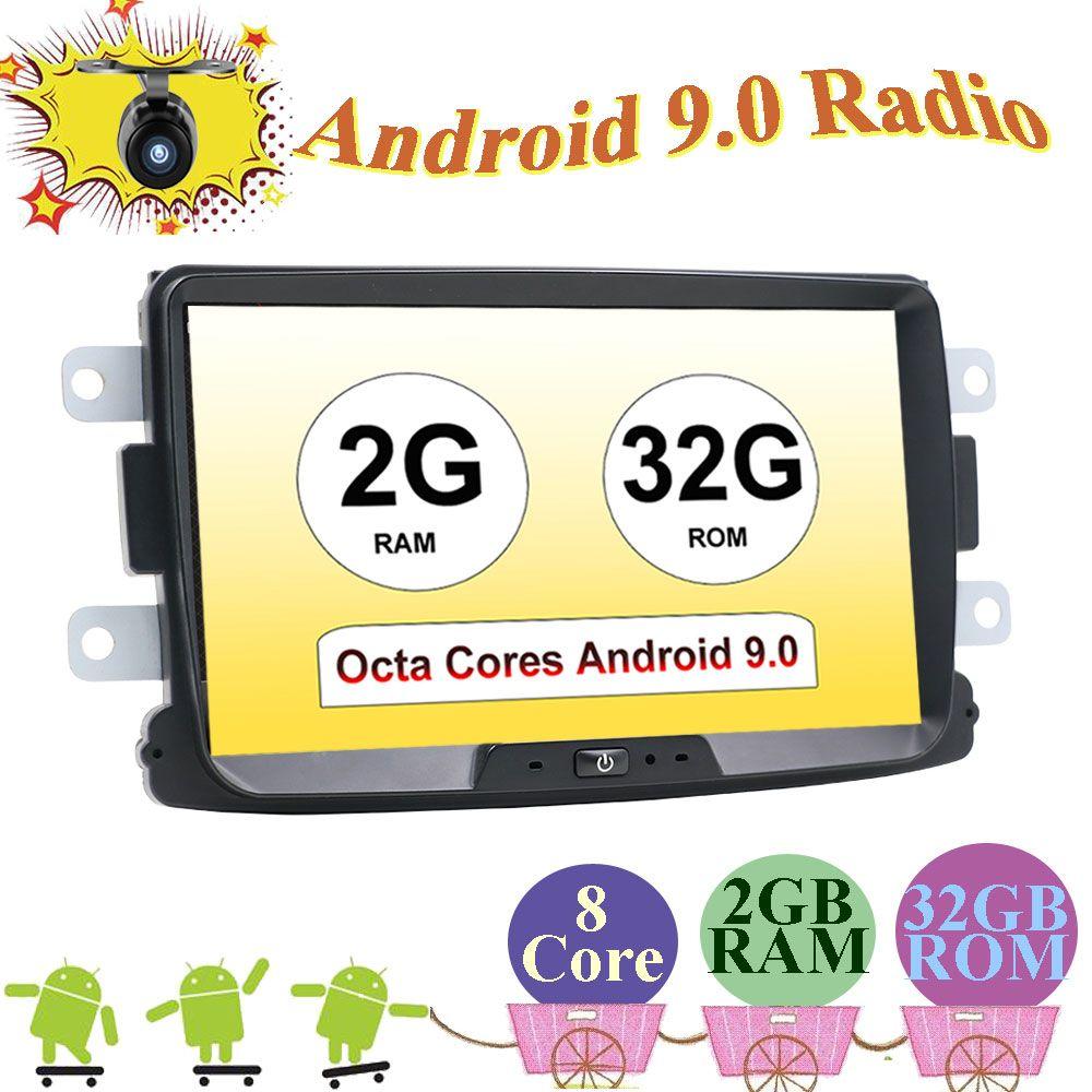 1 din für Dacia/Xray/Lada/Duster/Sandero/Logan auto radio android 9.0 Multimedia Player mit rückansicht kamera karte canbus SWC