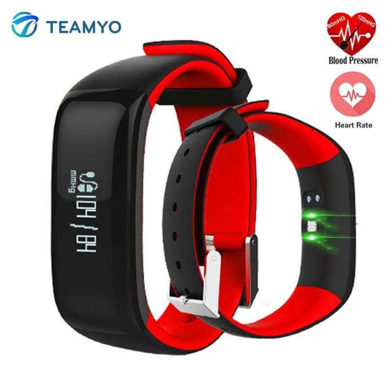 Teamyo P1 Smart Band relojes Presión arterial Frecuencia Cardíaca Monitores Smart-reloj fitness pulsera IP67 podómetro activity Tracker