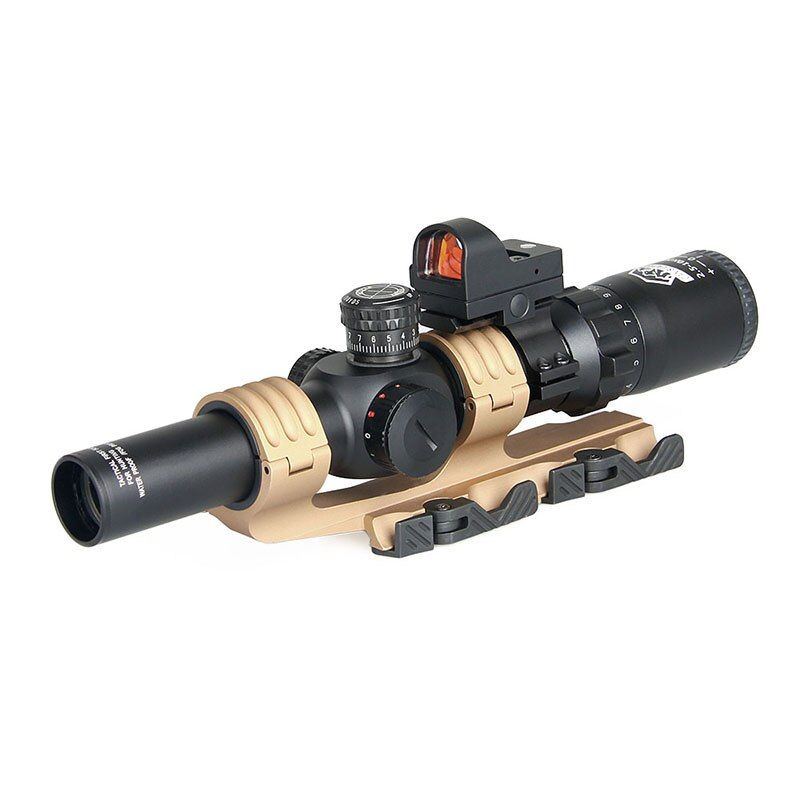 2.5-10X26 Rifle Scope With 1x Red Dot 2 Type Scope Mount For Outdoor Hunting gs1-0345