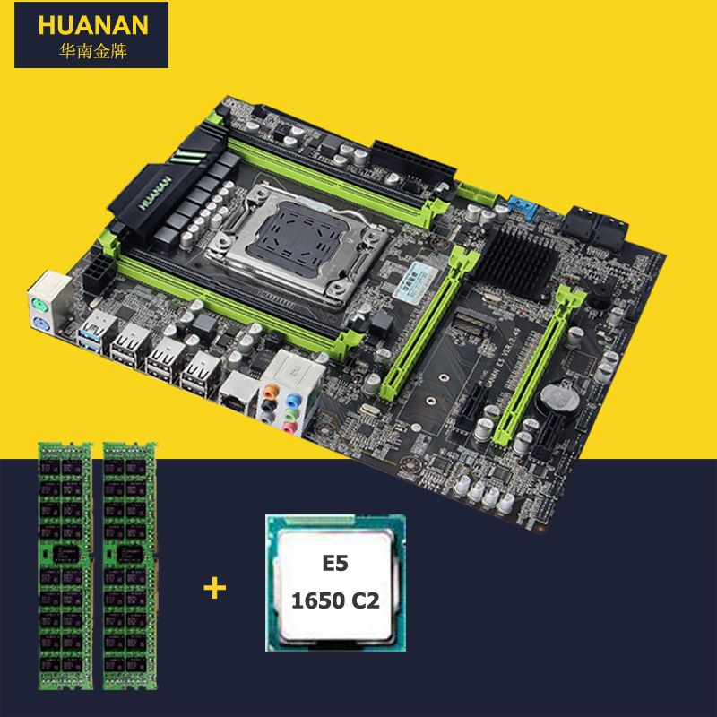 HUANAN V2.49 X79 motherboard CPU RAM combos Xeon E5 1650 C2 CPU (2*4G)8G DDR3 RECC memorry all good tested 2 years warranty
