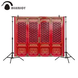 Allenjoy backdrop for photo studio Chinese style red ancient door frame building photography background portrait shooting