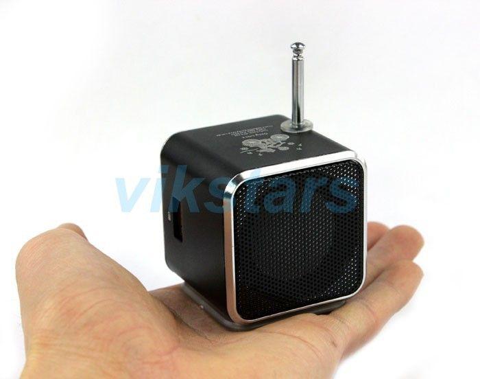 REDAMIGO TD-V26 En Aluminium Numérique linternet radio FM récepteur SD TF USB Stéréo Altavoz mini Haut-Parleur portable FM radio RU632