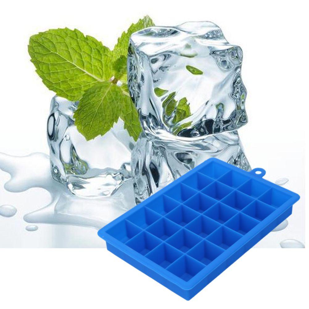 Große 24 Grids Silikon Ice Tray DIY Eismaschine Platz Form Form für Eis Obst Eisform Küche Bar trinken Zubehör